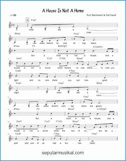 chord a house is not a home 1 lagu jazz standar