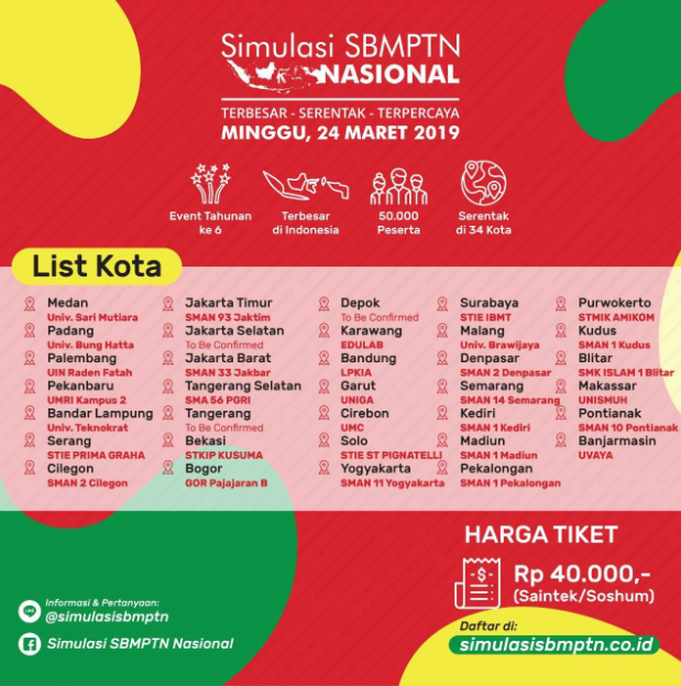 Tryout Simulasi SBMPTN 2019