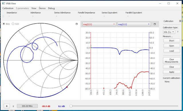 Fig.4 - NanoVNA-QT graphical user interface (GUI)