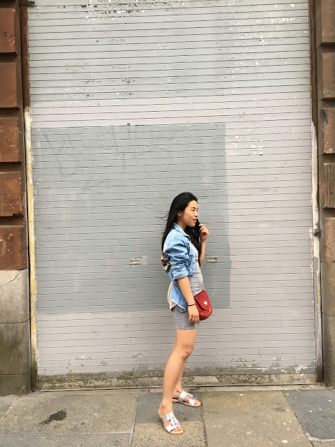 Denim street style outfit