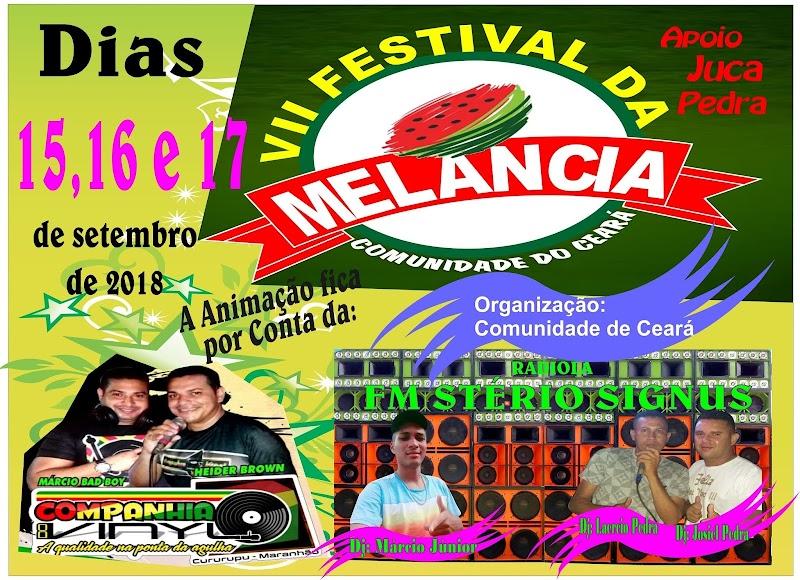 De 15 à 17 de setembro tem 7º Festival da Melancia da Comunidade de Ceará em Cururupu.