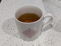 Yellow cow wood tea in mug