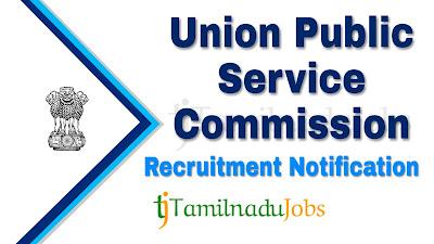 UPSC Recruitment notification 2019, govt jobs for master degree, central govt jobs