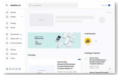 Tampilan Median UI Premium