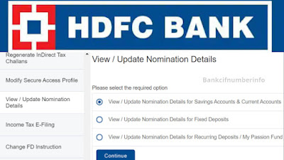 Add Nominee in HDFC Bank Online