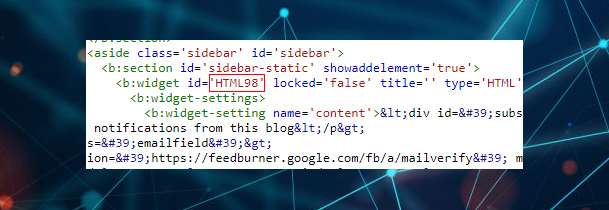 Thay đổi ID đó thành HTML98