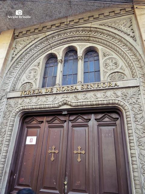 Vista ampla da fachada da Igreja Ortodoxa Antioquina da Anunciação de Nossa Senhora - Centro - São Paulo