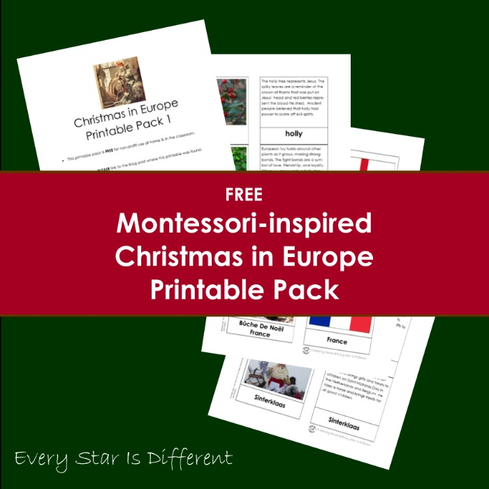 Free Christmas in Europe Printable Pack