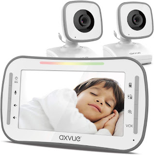 Video Baby Monitor, 4.3 High Resolution Display, 2 Cams for 2 Rooms