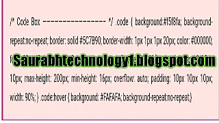 Top 4 stylish Code Box for Blogger.