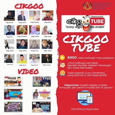 cikgootube, pembelajaran dari rumah, video pengajaran,e learning, bahan pembelajaran online