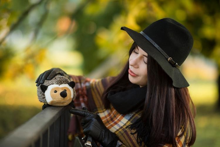 jesienny portret blogerka