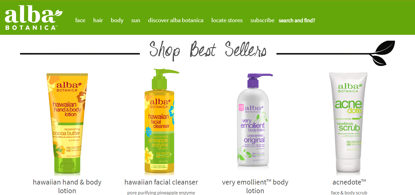 Discover Alba Botanica - body loving products that nourish skin and hair