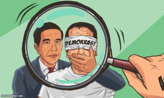 Pakar Hukum Unair Beri Peringatan: Kondisi Demokrasi di Era Jokowi Menuju Otoriter!