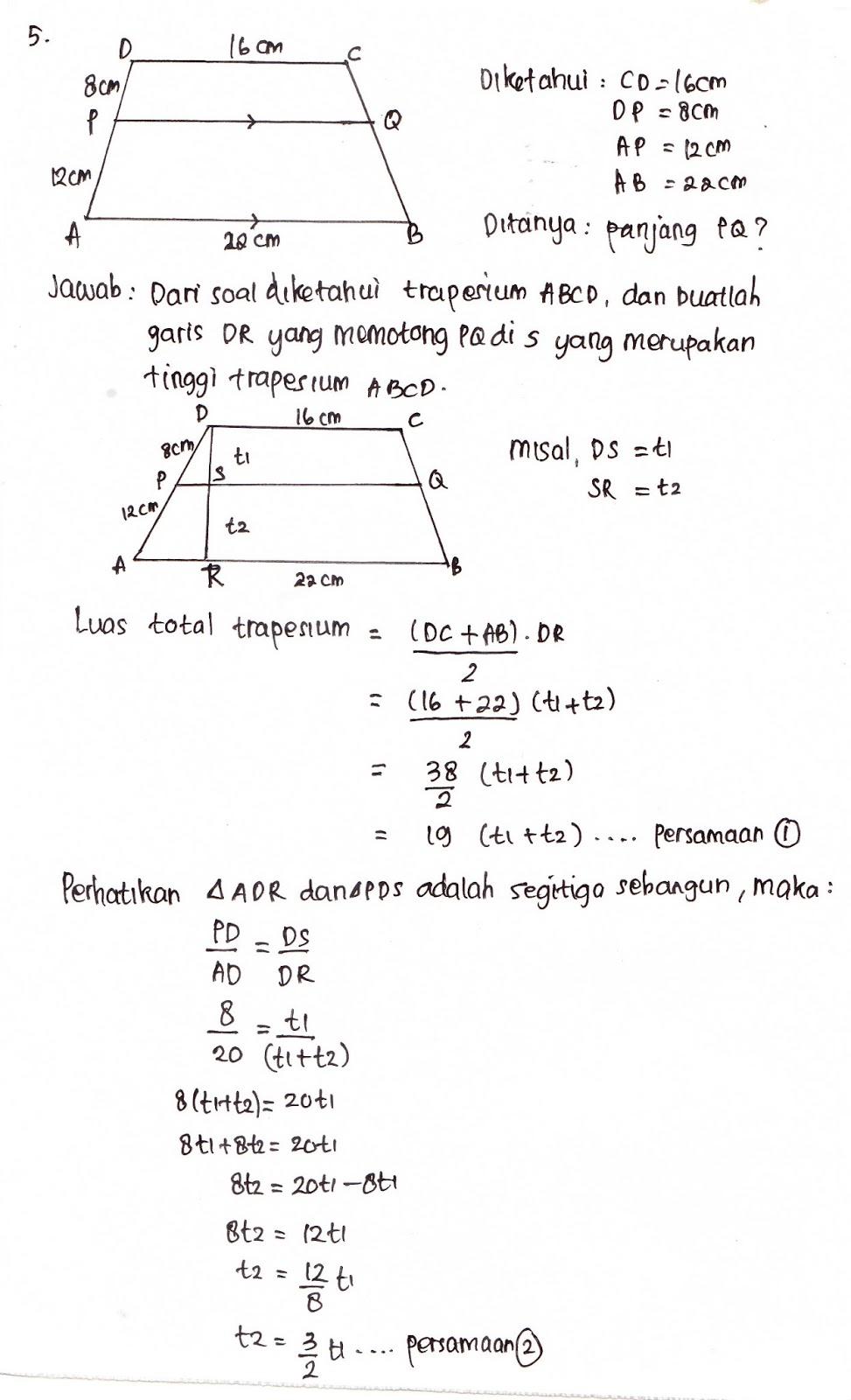 Rumus Kesebangunan Trapesium : rumus, kesebangunan, trapesium, Rumus, Perbandingan, Trapesium