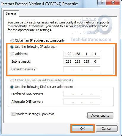 ربط حاسوبين بشكل مباشر عن طريق السلك Connect ethernet cable