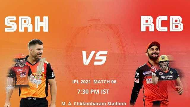 SRH vs RCB IPL 2021 Match Live Score update Highlights Watch online free