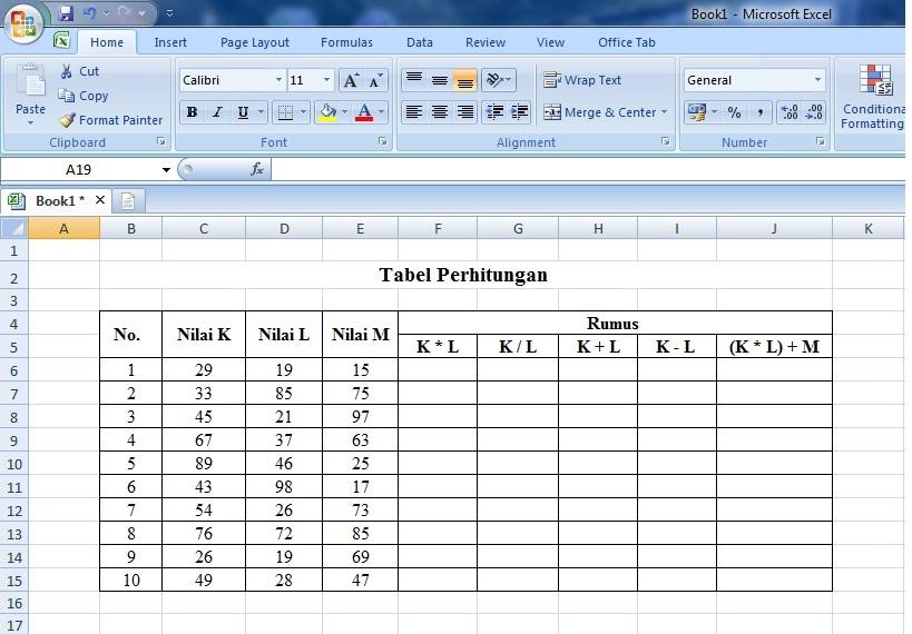 cara, operasi, matematika, rumus, microsoft, excel, perhitungan, laporan