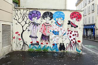 Sunday Street Art : Demoiselle MM - rue de la Mare - Paris 20