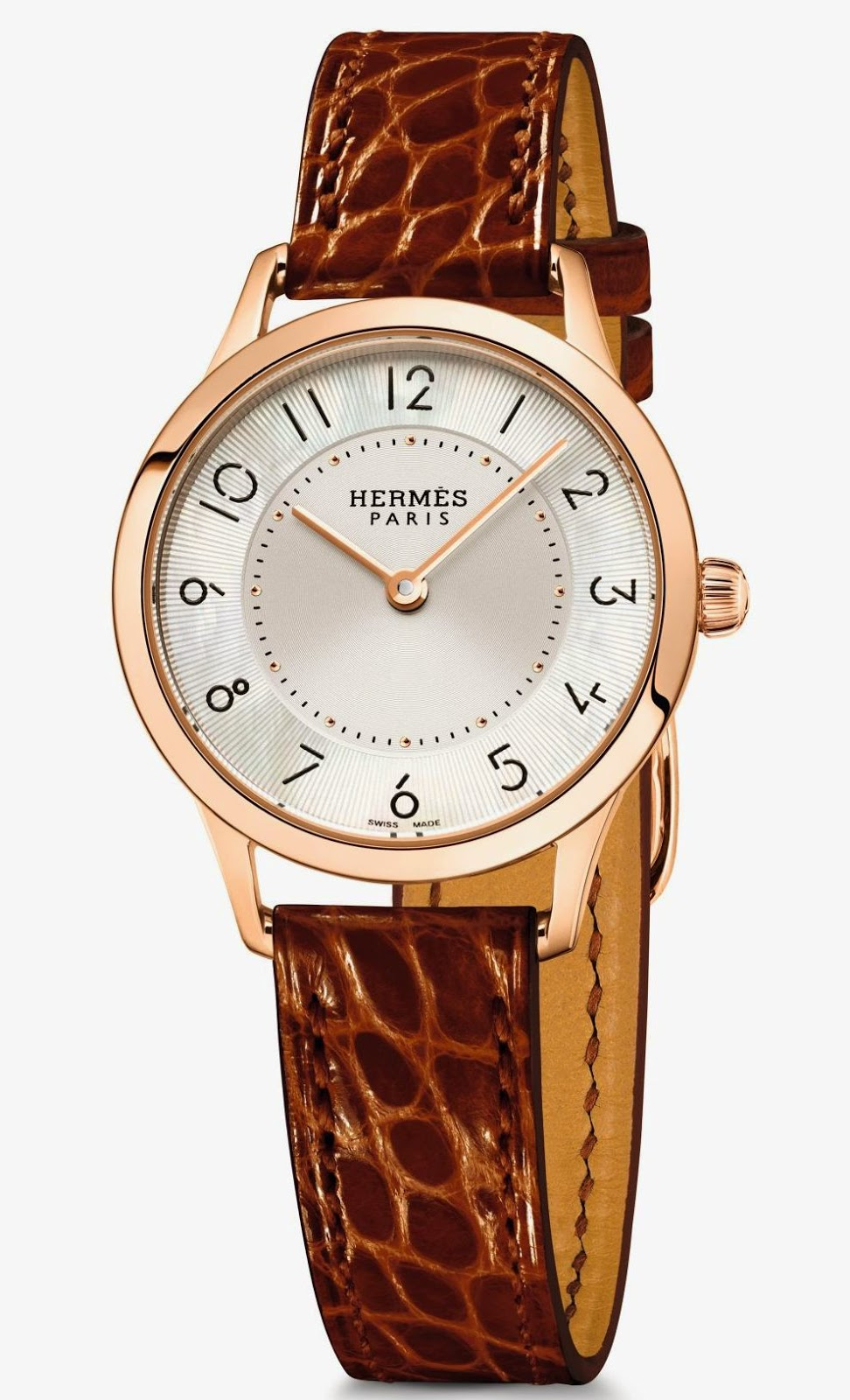 Slim d'Hermès Quartz, Rose gold watch 25 mm