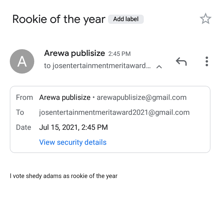 [JEMA Awards] How to Nominate Shedy Adams for 'Rookie of the year' entry #Arewapublisize
