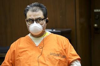 Naason Joaquin Garcia, leader of the Guadalajara-based La Luz del Mundo church, at a bail hearing in August.(Irfan Khan / Los Angeles Times)