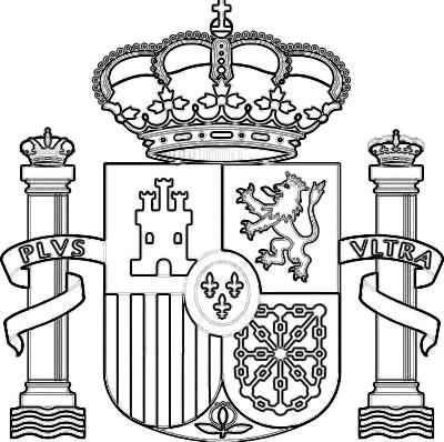 Dibujo del Escudo de España para dibujar colorear pintar imprimir