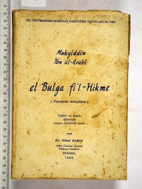 Muhyiddin İbn Arabi - El-Bulga-Fi-l-Hikmeh PDF İndir