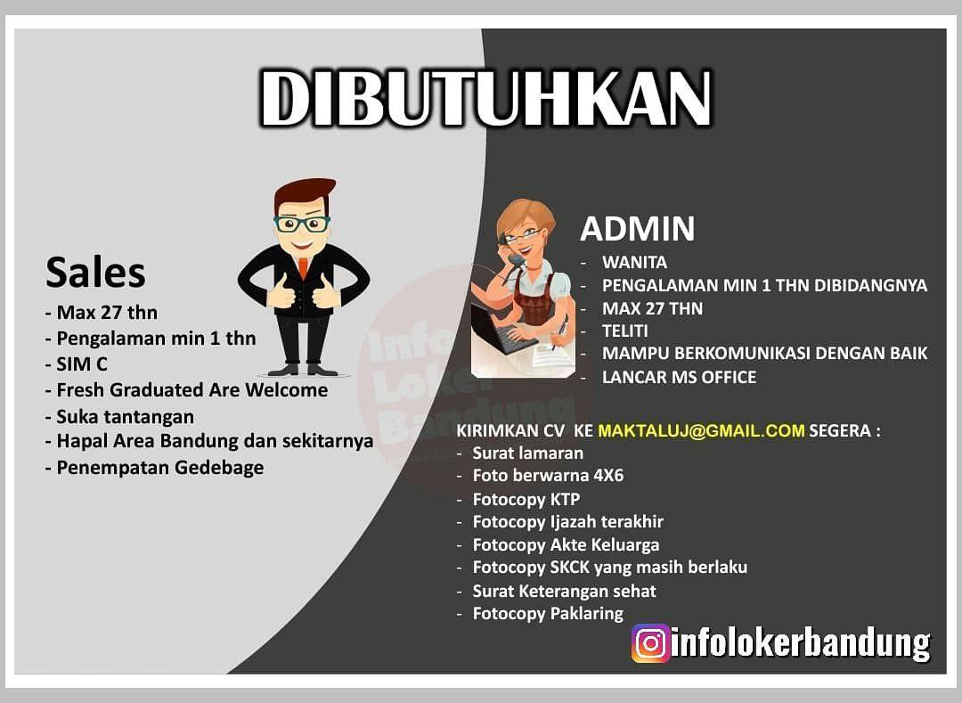 Lowongan Kerja PT. MDP Gedebage Bandung Agustus 2019