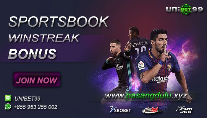 Promo Win Streak Bonus Untuk Taruhan Bola Sportsbook
