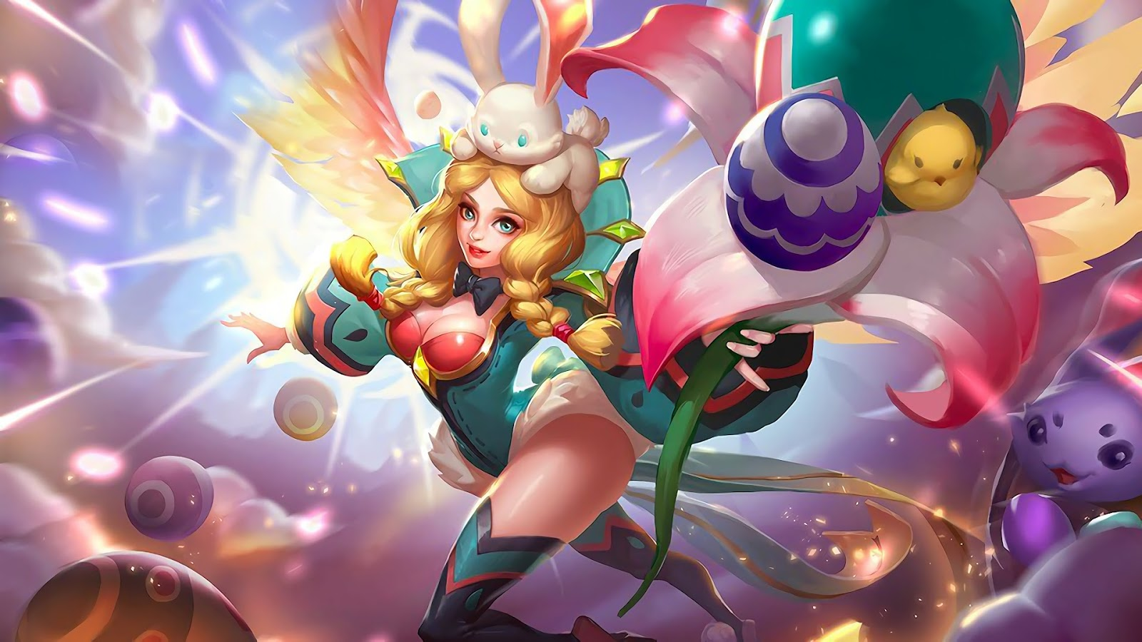 Wallpaper Rafaela Flower Fairy Skin Mobile Legeneds HD for PC