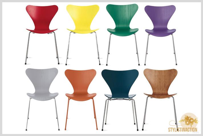 sillas de autor - cual es la indicada para cada casa - serie 7 Arne Jacobsen