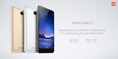 Redmi Note 3 Prices