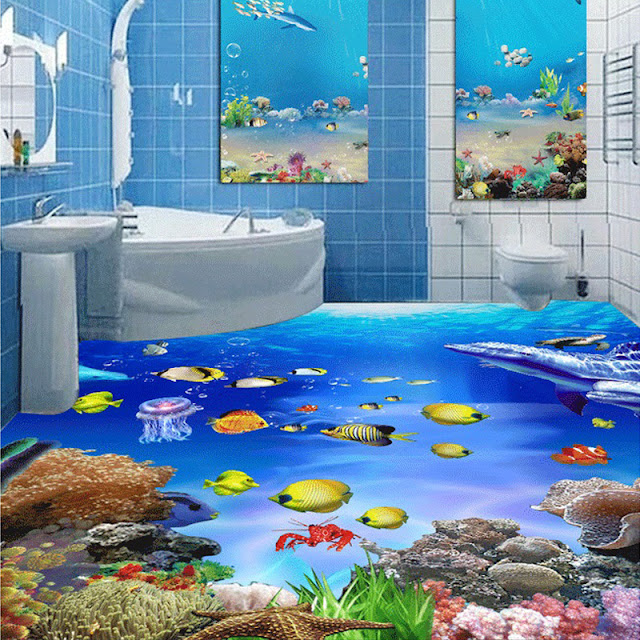 3d floor designs for bathroom
