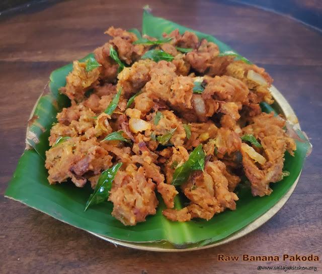 images of Vazhakkai Pakoda Recipe / Vazhakai Killu Pakoda Recipe / Raw Banana Pakoda / Plantain Pakora / Valakkai Pakoda