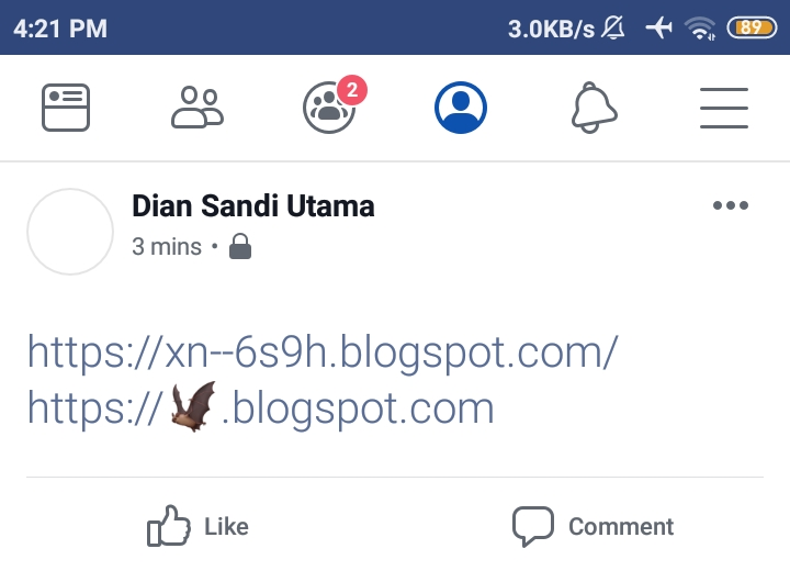 Sinyal Sosial Facebook