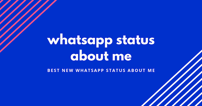 30 + new latest whatsapp status about me | about me
