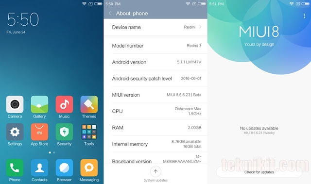User Interface MIUI Xiaomi Redmi Note 3 Pro