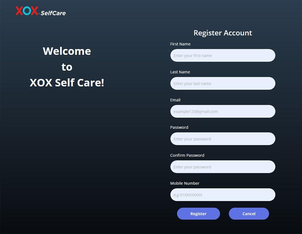 Cara Daftar Akaun Selfcare XOX