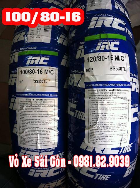 Vỏ xe máy INOUE(IRC) Thái vỏ trước 100/80-16 TL