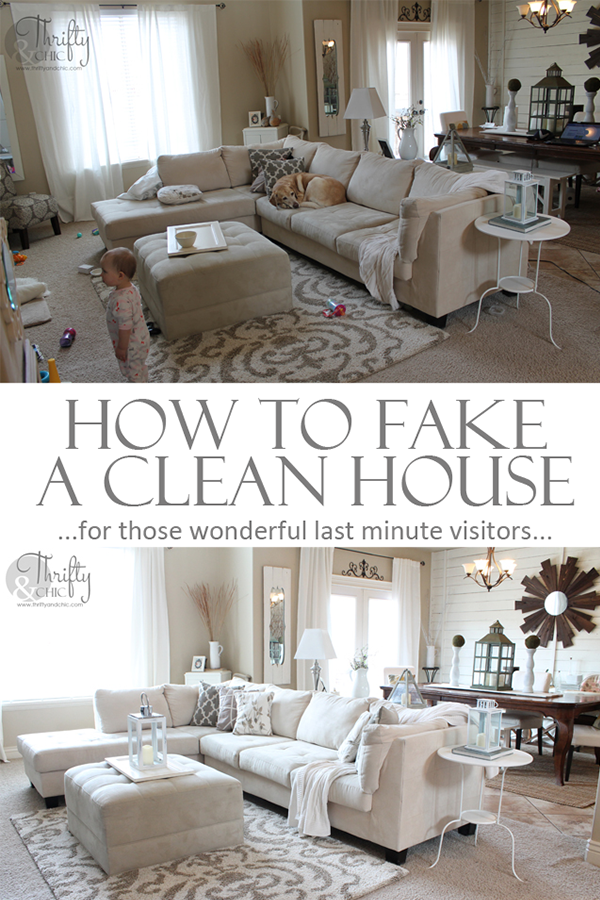How to fake a clean house in 20 minutes. Over 25 tips! & Thrifty and Chic - DIY Projects and Home Decor