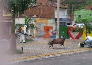 Pilõezinhos promove higienização de ruas e locais públicos contra o coronavírus