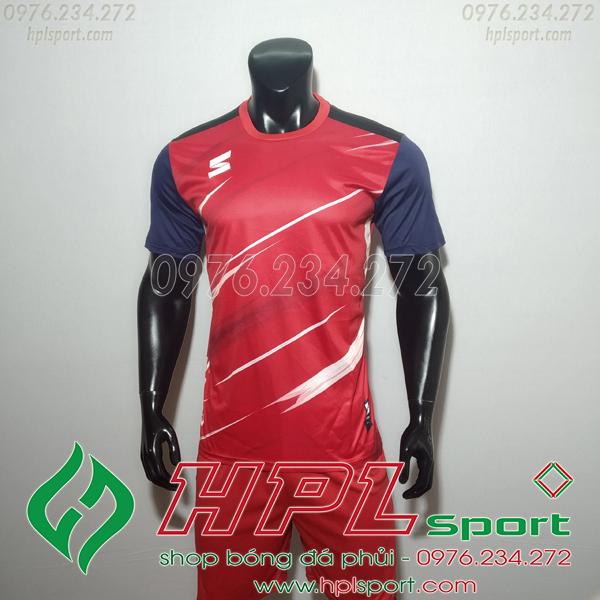Áo bóng đá không logo TL HML Inza màu đỏ