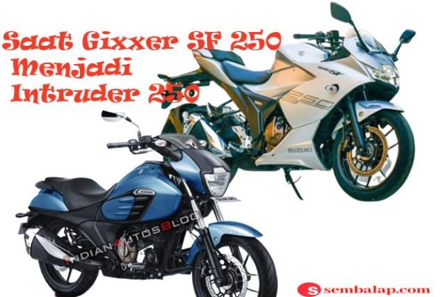 Intruder 250 terbaru basis mesin Gixxer SF 250