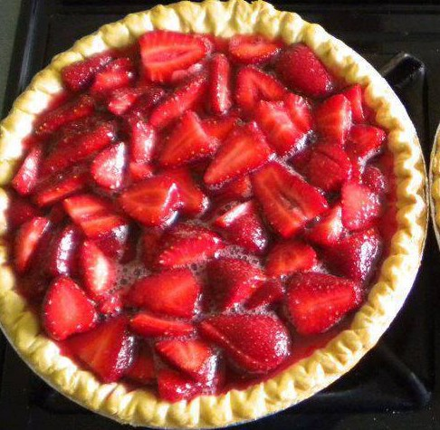 BigBoy Strawberry Pie #desserts #supereasy