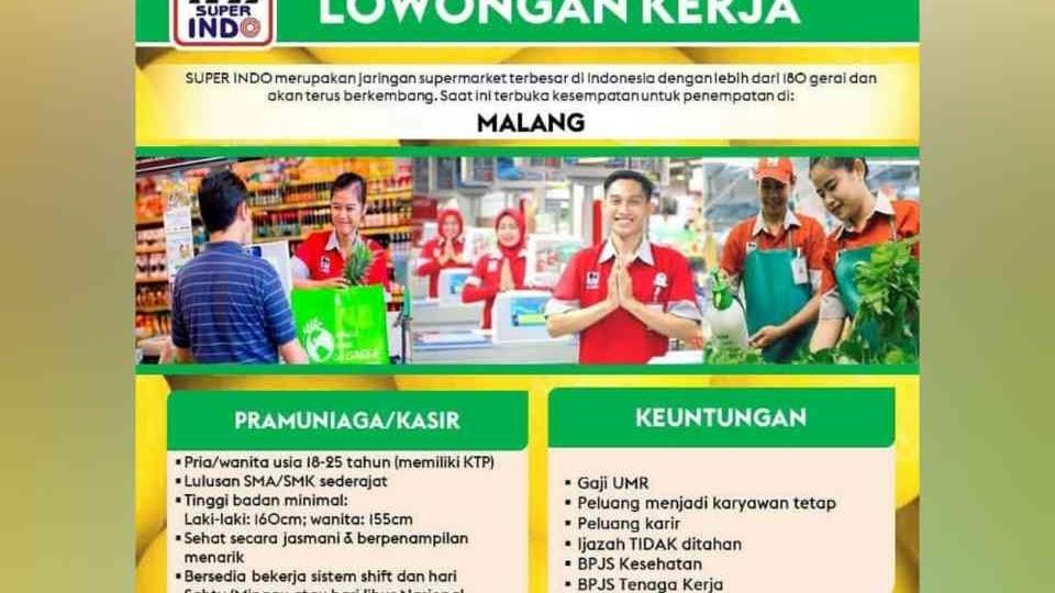 Lowongan Lowongan Kerja Superindo Malang 2021