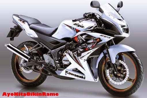 Gambar Kawasaki Ninja 150 RR SE Warna Putih
