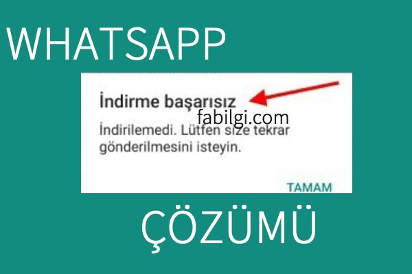 Whatsapp Fotoğraf Video İndirme Sorunu Çözümü Kesin Yöntem