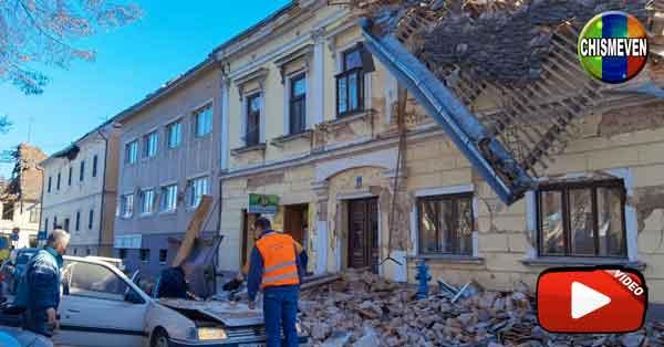 Los más terribles videos del sismo en Croacia que dejó a la ciudad destruída