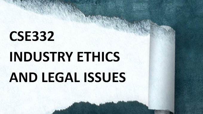 CSE-332 Industry Ethics And Legal Issues MCQ's with Answers - Set V